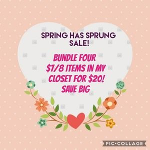 Spring has Sprung Sale....limited time only!